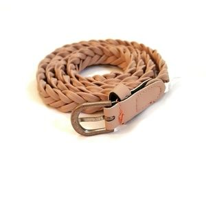 Nude Colored Braided Belt